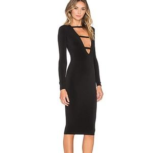 Nookie Harlow plunge cut out midi dress